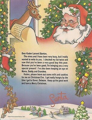 Santa Claus Personalized Letter From Santa Children and Adults