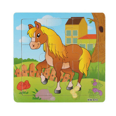 Kids Wooden Horse Jigsaw Toys For Kids Education And Learning Puzzles Toys 2018