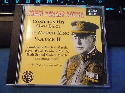 John Philip Sousa Conducts His Own Band: The March King, Vol. 2 (CD, Nov-2000)