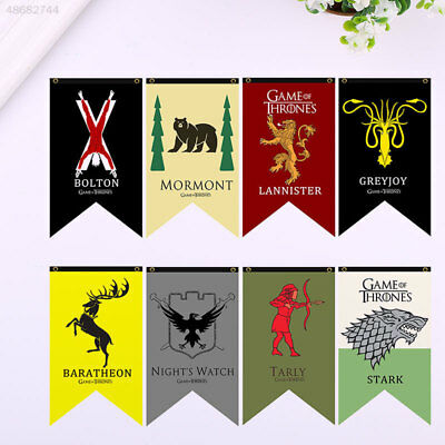 Game of Thrones Hanging Banner Flag Stark Mormont Tarly Lannister Party Decor