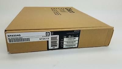 Cisco SPA504G 4-Line IP Phone with 2-Port Switch PoE PC Port and LCD Display