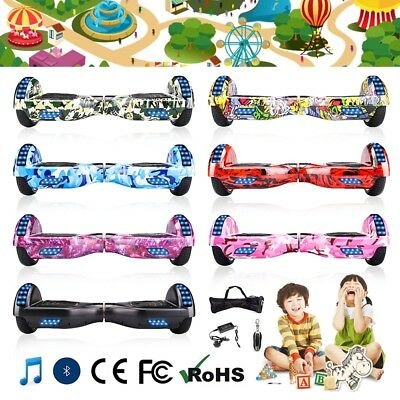 6.5 inch Electric Scooter Self Balancing Scooter Balance Board Bluetooth LED