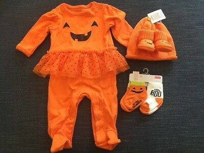 Baby Halloween One Piece, Hat & Bootie Set, Socks Just One You Made by Carter's®