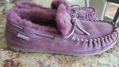 L.L.Bean Wicked Good Camp Moccasins Women's Size 10 Eggplant / Plum
