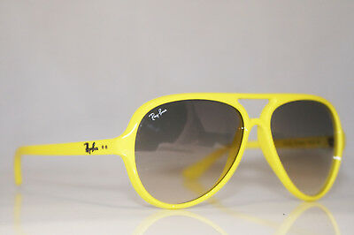 9990ed893d RAY-BAN Mens Unisex Designer Sunglasses Yellow CATS 5000 RB 4125 754 32  16313