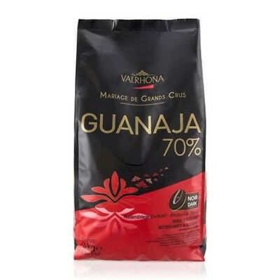 Valrhona Guanaja Dark Chocolate Baking Feves70% Cocoa, 3kg/6.6lbs Bag
