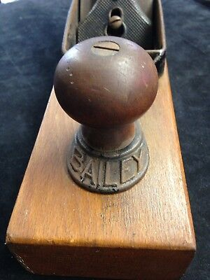 Antique WOOD PLANE  Stanley Bailey 27 1912 Carpenter tools Woodworking