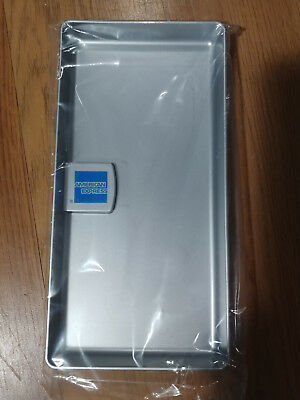 NEW American Express AMEX Tip Tray/ Check Presenter/ Receipt Holder- Silver