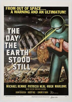 The Day The Earth Stood Still Vintage Movie Wall Art Poster Print Maxi A1 A2 A3