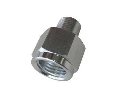 """Aeroflow AF912-02-04S Npt Pipe Reducer Silver 1/8"""" Male To 1/4"""" Female"""