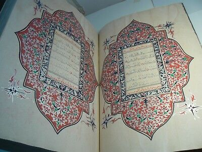 A Huge, Highly Illuminated Arabic Manuscript.  A Complete Qur'an