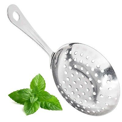 (12 Pack) Stainless Steel Julep Strainer by Tezzorio, 7-Inches Bar Strainer