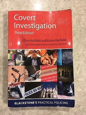 Covert Investigation by Clive and Karen Harfield Paperback Book Third Edition