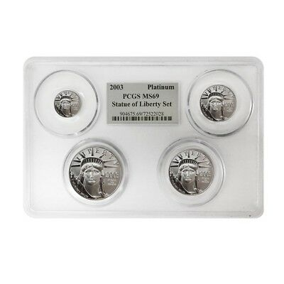 2003 1.85 oz Platinum American Eagle 4-coin Set PCGS MS 69 Multi Holder