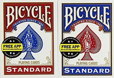 Bicycle Rider Back Spielkarten Spielware Kartendeck Rotbla Playing Standard Inde
