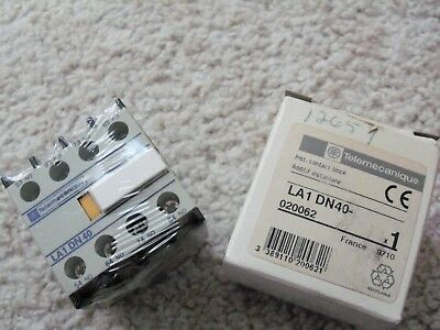 SQUARE D TELEMECANIQUE Auxiliary Contact Block Top Mount LA1 DN40 new in box