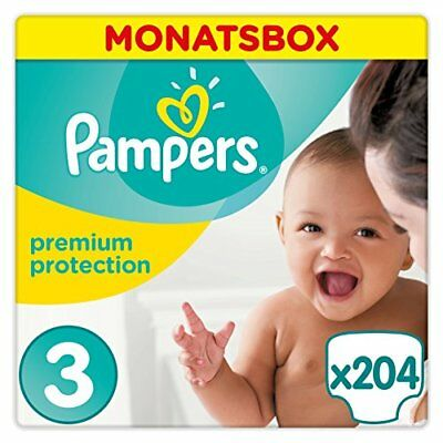 Pampers Premium Protection Midi Monatsbox Doppelabsorbiersystem Babywindeln Blit