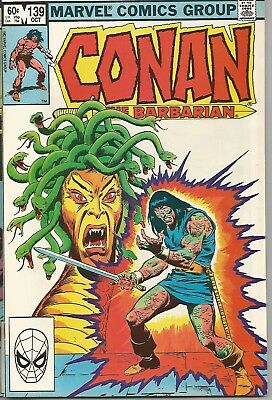 """MARVEL Comic CONAN THE BARBARIAN ☆ #139 """"In the Lair of the Damned"""" October 1982"""