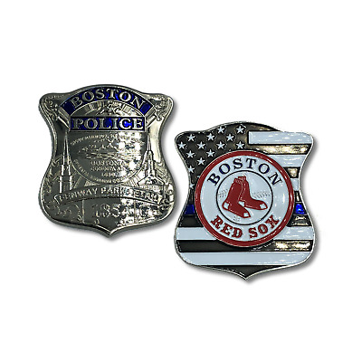 Fenway Park Detail Boston Police 2.5 inch Red Sox Challenge Coin