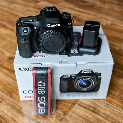Mint Condition Canon EOS 80D 24.2MP Digital SLR Camera - Black (Body Only)