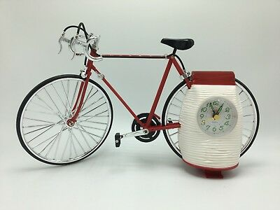 Bicycle alarm clock red with sound Collectible - FREE SHIPPING