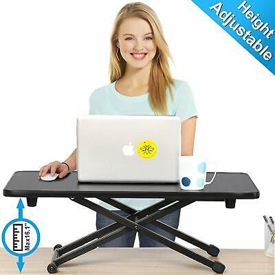 Sit Stand Desk PC Workstation Height Adjustable Table - Monitor Keyboard Riser