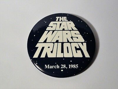 Vintage 1980's The Star Wars Trilogy - 1st VHS Release Promo Pin 3/28 - 1985 LFL