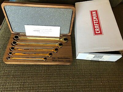 CRAFTSMAN 2003 LIMITED EDITION  5 Pc. Gold Plated WRENCH SET