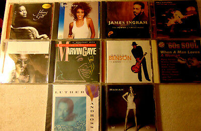 Lot of 10 Assorted R&B CDs - Marvin Gaye  Luther Vandross  Mariah Carey +