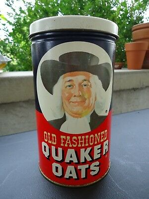 Vintage Quaker Old Fashioned Oats Tin 1982 Limited Edition Oatmeal Cookies