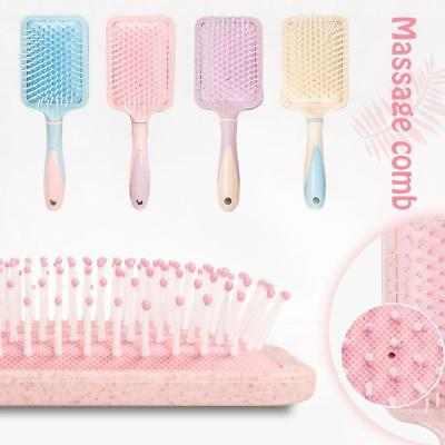 Anti-knot Wheat Straw Plastic Airbag Color Rubber Large Board Massage Comb Brush