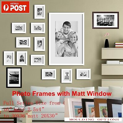 "Photo Frame Picture Frames 4x6 5x7"" 6x8 8x10 to A4 A3 16X20 20X24 24x36 All Size"