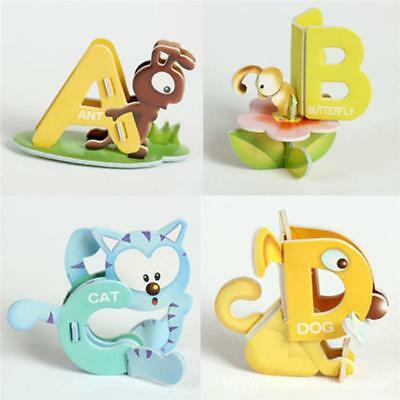 Baby 3D Alphabet Number Animal Puzzle Toys Education Learning Tools Toy JJ