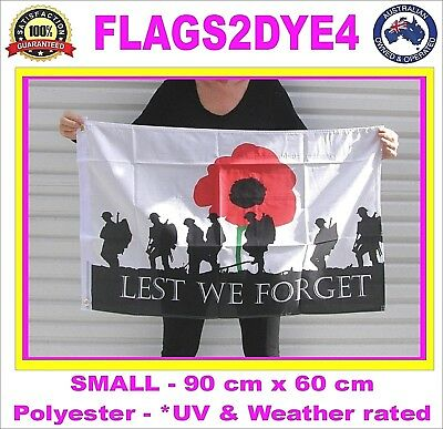 Lest we forget flag ARMY Australia Australian ANZAC poppy Remembrance flag