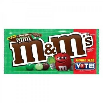 M&Ms M&M's Crunchy Mint 80.2g USA Chocolate Extra items get free postage