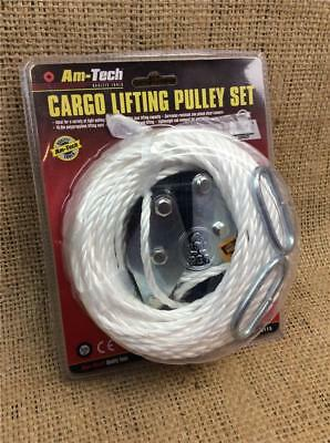 CLEARANCE LINE LA31 LIFTING GEARED PULLEY SET 180 Kg EASY HOIST ROPE 3mtr LIFT