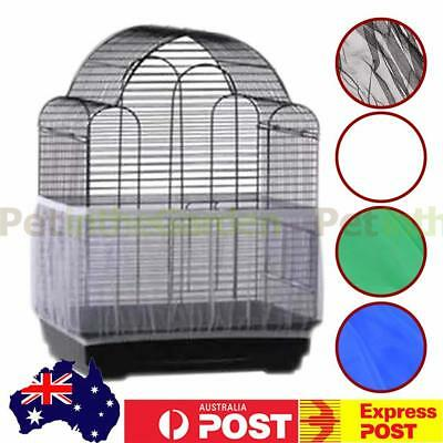 Nylon Mesh Pet Bird Cage Seed Catcher Guard Cover Shell Skirt Decoration Net
