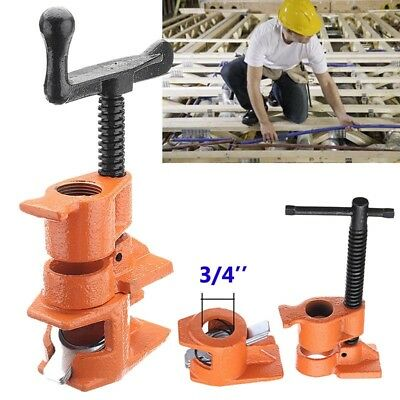 1/2 3/4inch Wood Gluing Pipe Clamp Set Cast Iron Woodworking Carpenter Tool