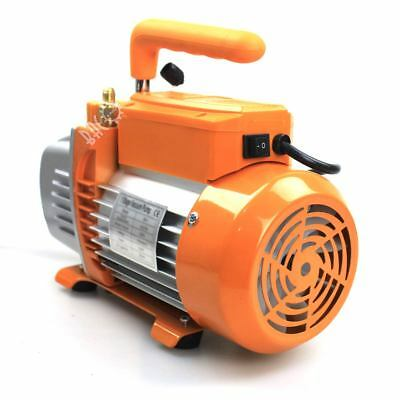 BACOENG 1/4HP 3CFM Single Stage Rotary Vane Vacuum Pump UK plug Ideal for HVAC
