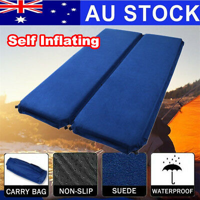 Self Inflating Mat Pad Air Bed Camping Hiking Mattress Joinable Pillows ON SALE