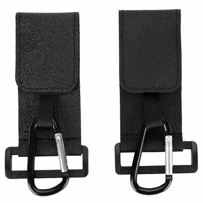 2Pcs Baby Pushchair Stroller Clip Hook Buggy Pram Cart Shopping Bag Hanger Black