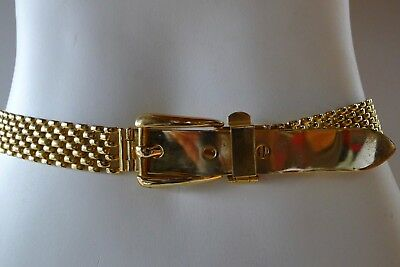 Vintage retro 90s woment gold metal narrow Belt bling