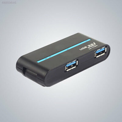 Portable High Speed 4Ports USB 3.0/2.0 External Hub Adapter For PC Laptop