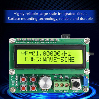 FYE050 DDS Function Signal Source Generator Module Sine Square Frequency Counter