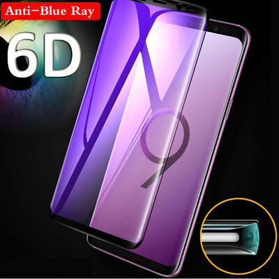 Full Curved 6D Temper Glass Screen Protector For Samsung Galaxy Note 9 S9 S8Plus