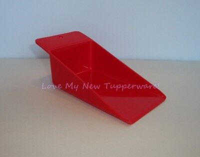 Tupperware Flat Bottom Scoop Flour Sugar Rice Red New