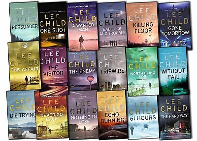 Jack Reacher ,Lee Child (audio books and electronica books) 20 novels in total