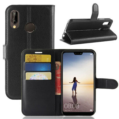 For Huawei Y5 Y6 Y7 Prime 2018/P20 Lite Case Leather Magnetic Flip Wallet Cover