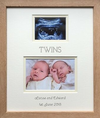 Twins Pregnancy Scan Personalised Photo Frame