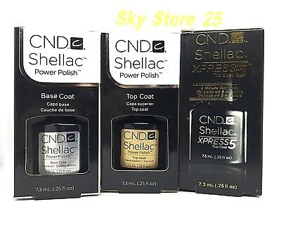 CND Shellac Gel Base Top Xpress5 Coat In Box Authentic UV/LED 7.3ml/0.25oz New